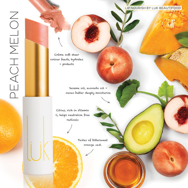 Lip Nourish Peach Melon Natural Lipstick