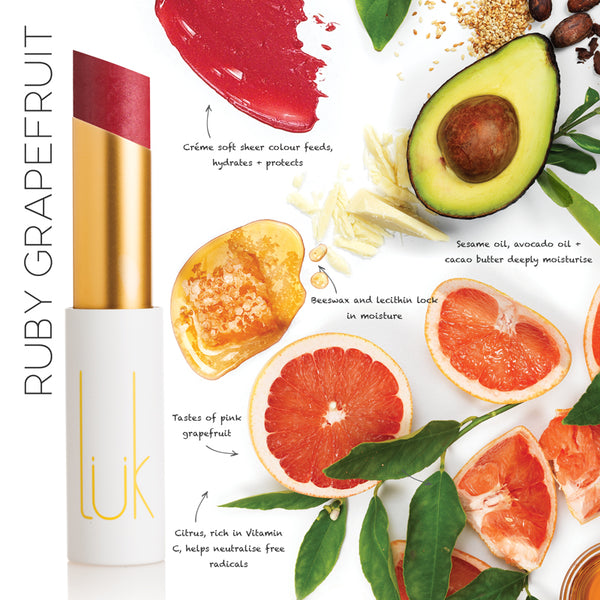 Lip Nourish Ruby Grapefruit Natural Lipstick