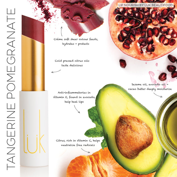Lip Nourish Tangerine Pomegranate Natural Lipstick
