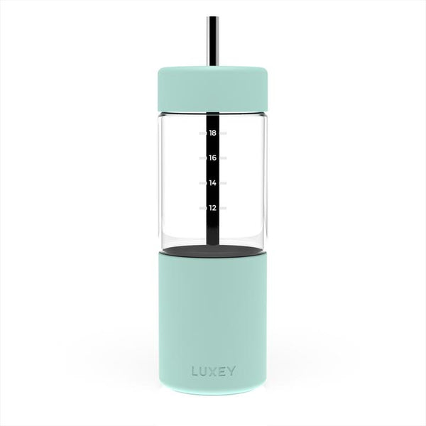 Luxey Smoothie Cup (up to 22 oz) Reusable Glass Cup / White