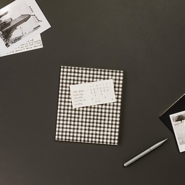 A5 Lined Notebook / Black Gingham