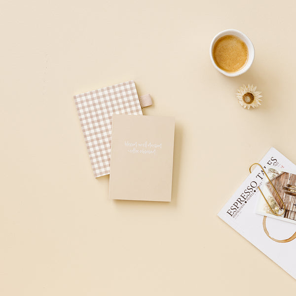 A6 Dot Grid Notebook / Coffee Obsessed