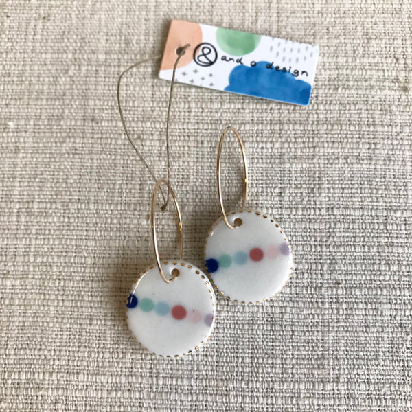 Oval Bead Drop Earrings / Pastels