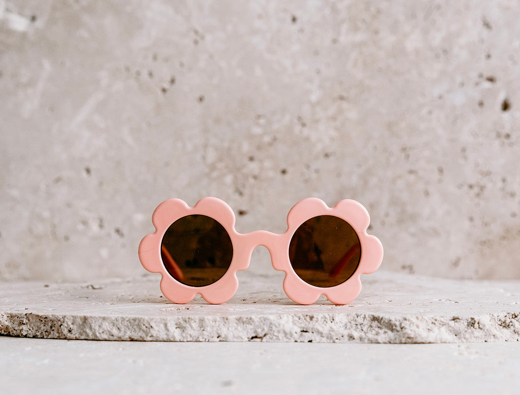 Daisy Shaped Kids Sunglasses / Orange Fizz
