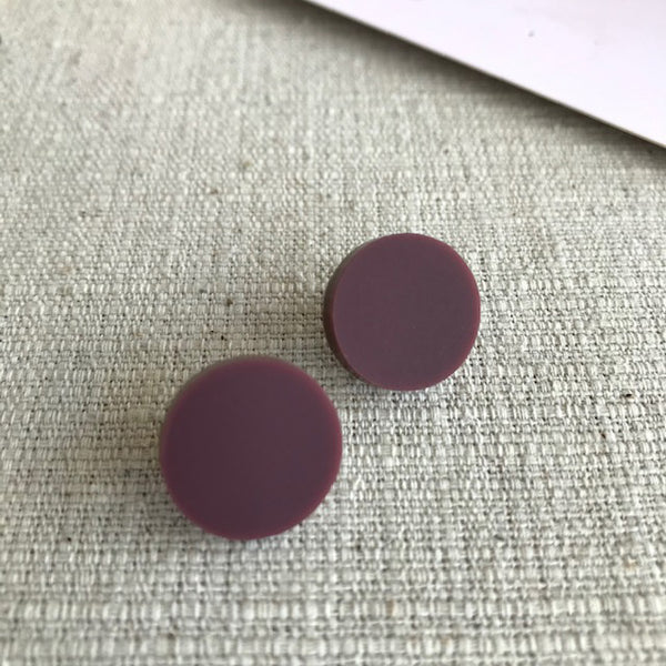 'Ayla' Statement Studs / Wine