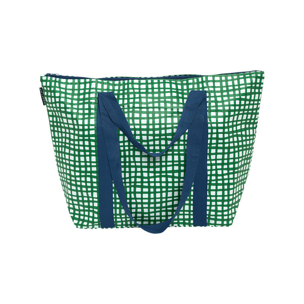 Zip Up Medium Tote / Check