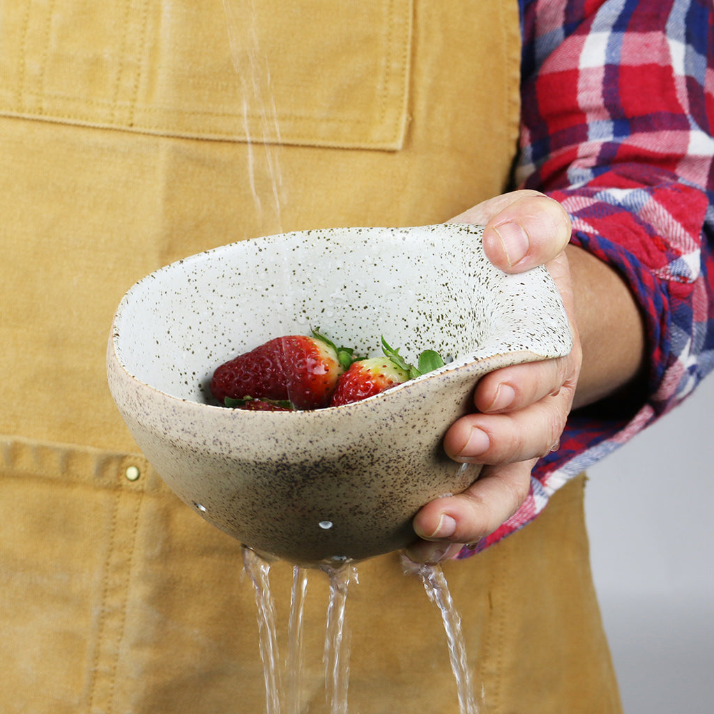 Berry Colander / White