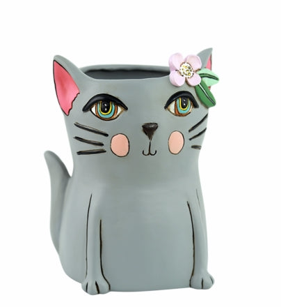 Planter / Grey Kitty