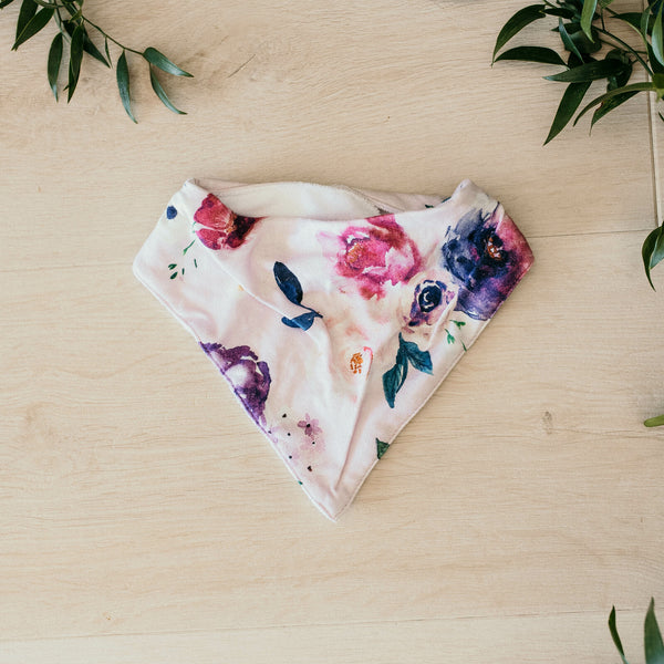Floral Kiss / Dribble Bib