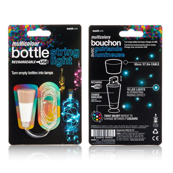 Multicolour string bottle lights