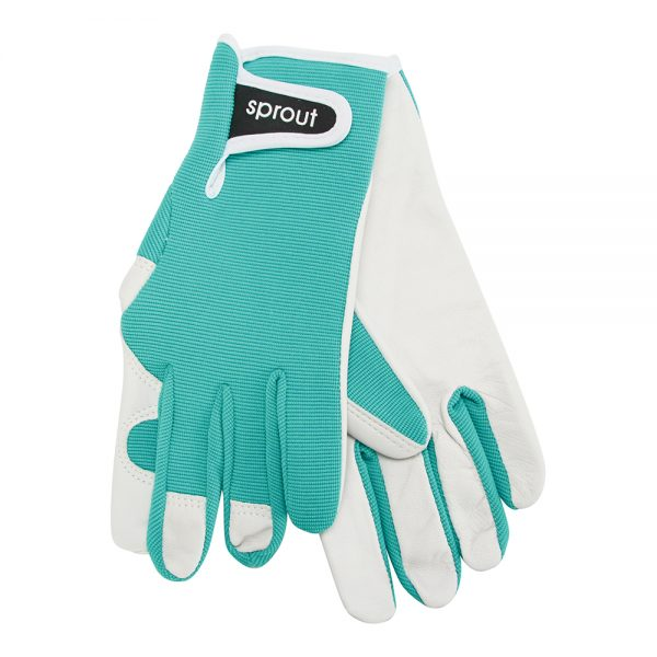 Sprout Goatskin Gloves / Jade