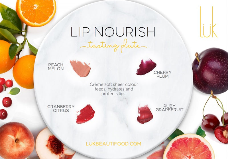4 shade Lip Nourish Tasting plate