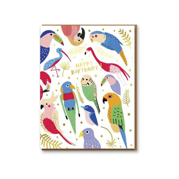 Birthday Card / Tropical Feathers