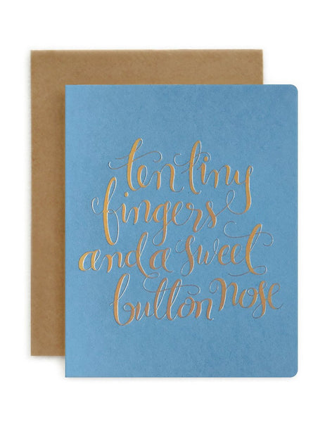 Greeting Card / 'Ten Tiny Fingers' Blue