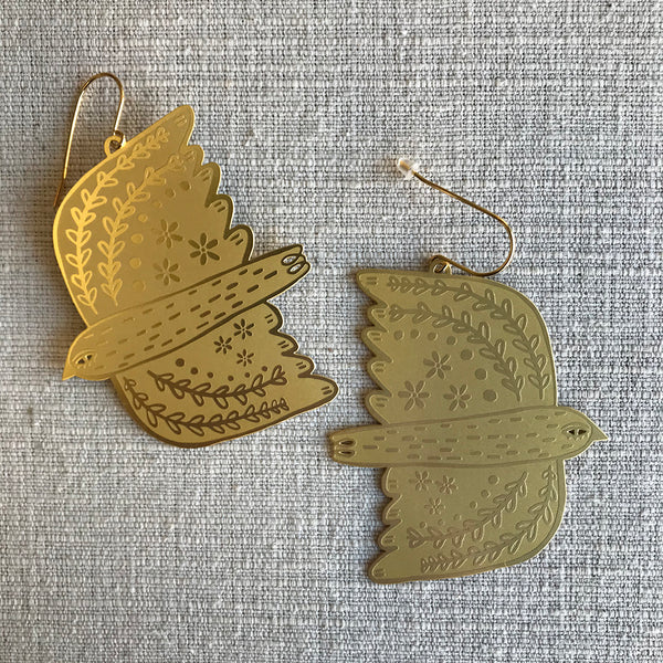Dove Dangles / Gold
