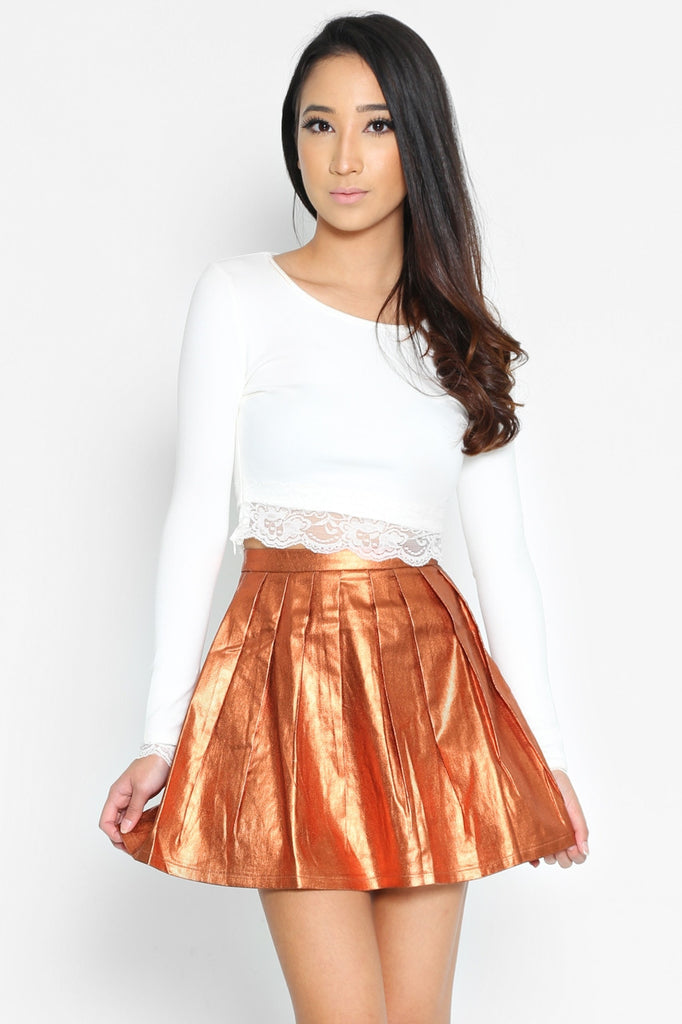 (SALE) Gustav Metallic Skirt