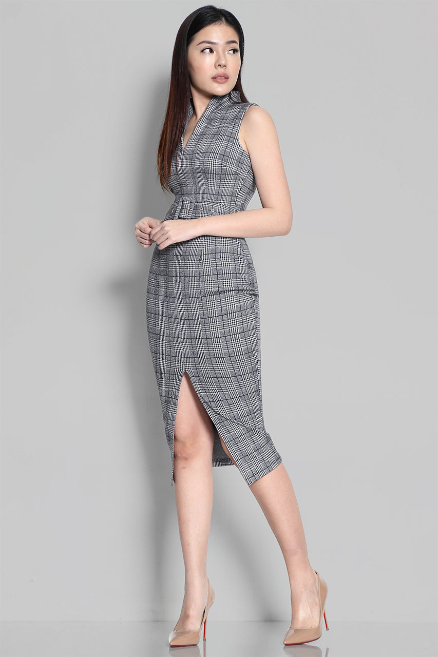 KESLEIGH CHECKS DRESS