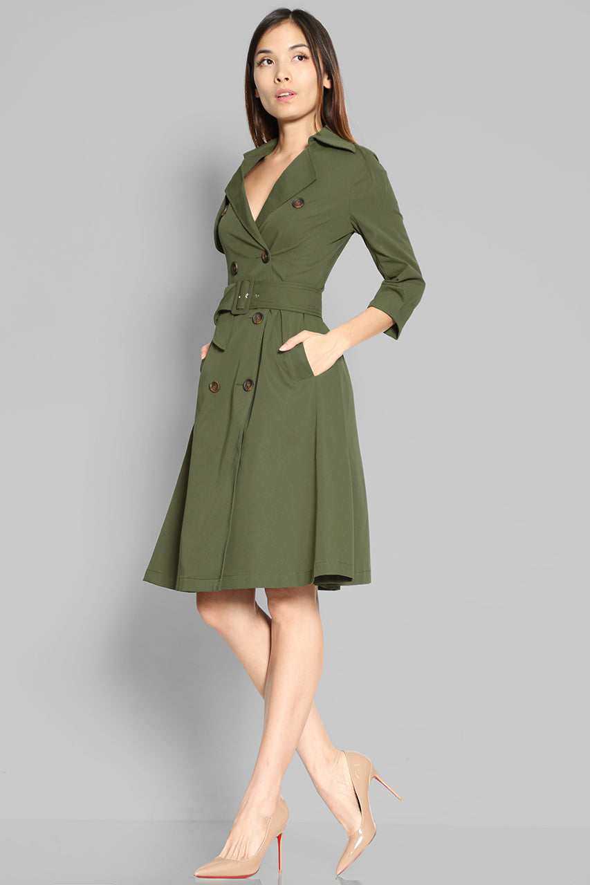 (SALE) Zakharova Trench Dress