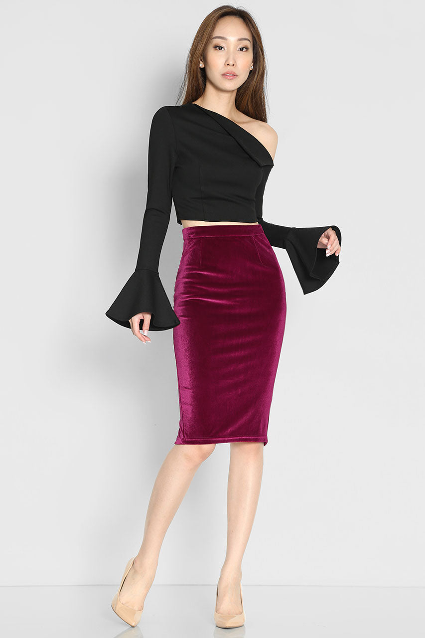 Langston Velvet Skirt