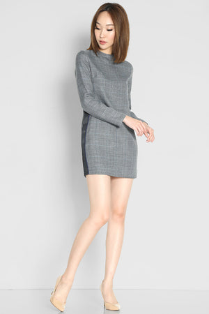 (SALE) Venezia Checks Shift Dress