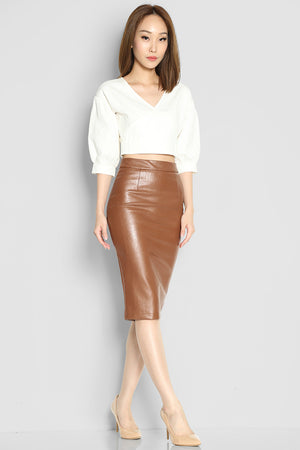 Brooker Leather Skirt