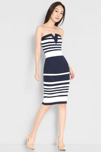 Lara Bandeau Stripes Dress