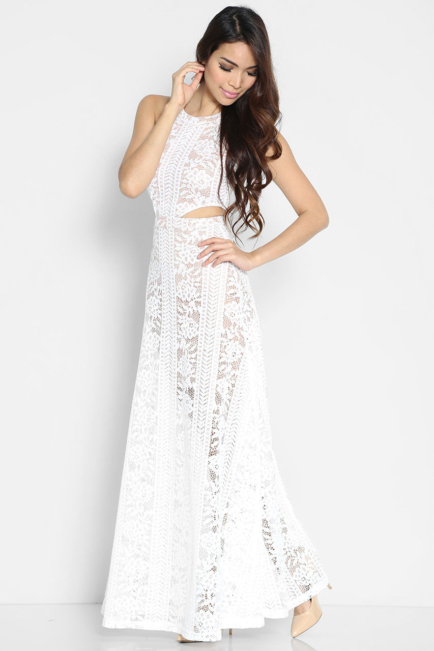 Raffaella Nude Maxi Dress