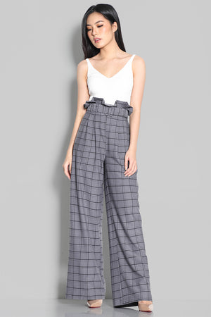 Melis Checkers Paperbag Pants
