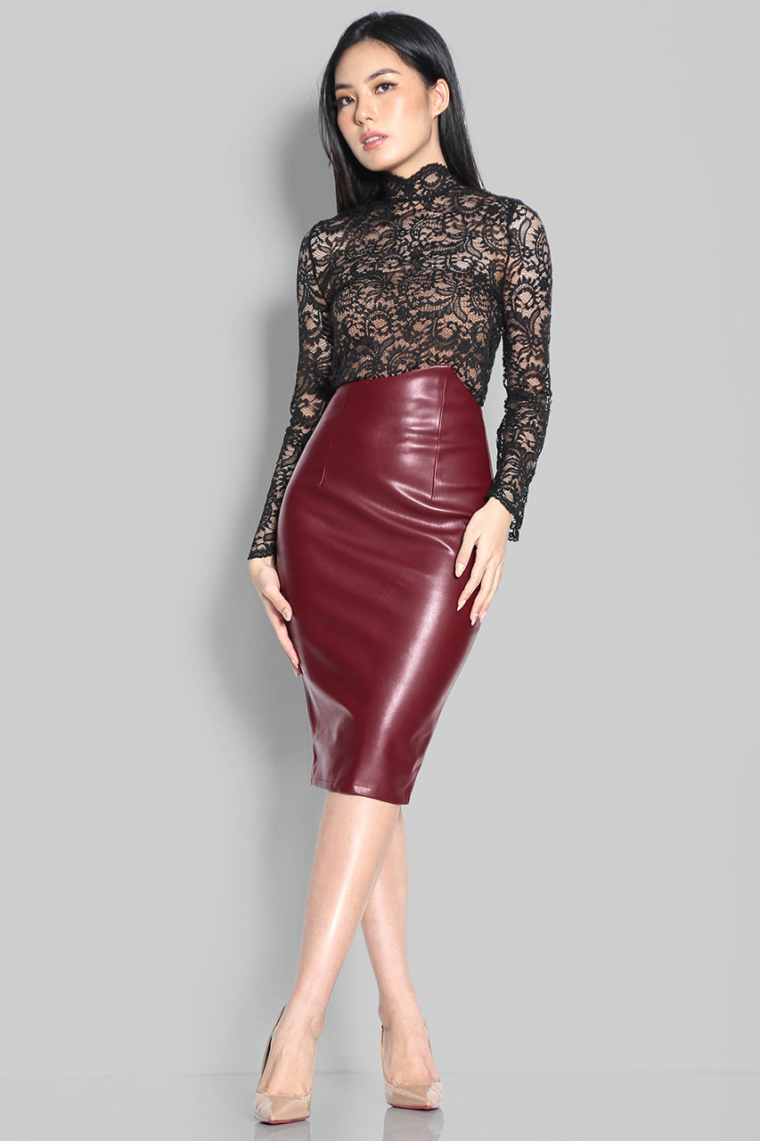 Quintessa Leather Skirt