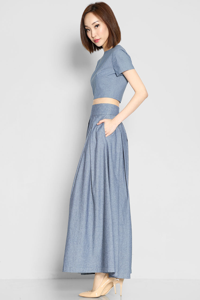 (SALE) Archer Denim Palazzo Pants