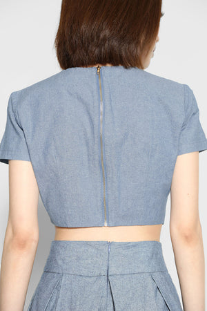 (SALE) Axel Wyatt Denim Top