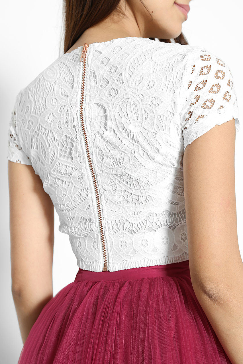 Floriana Lace Cropped Top