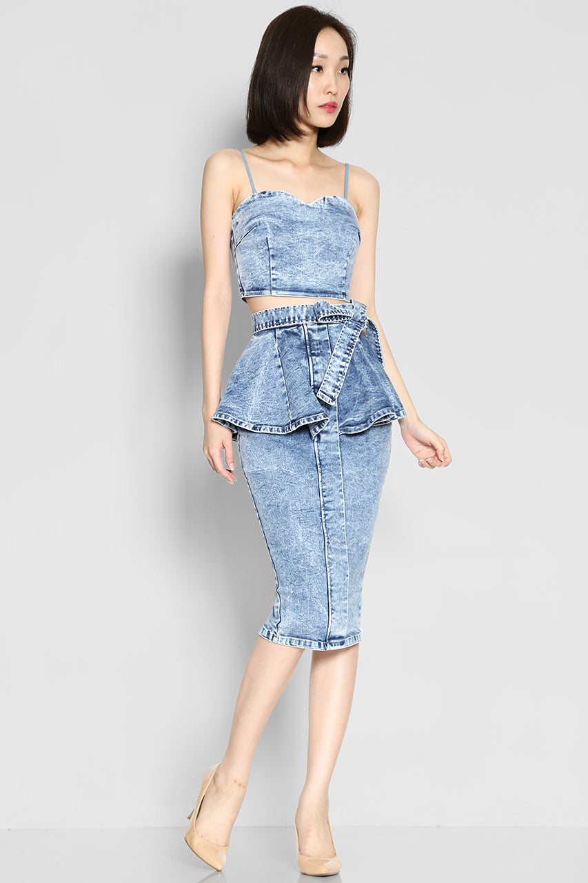 Maud Denim Crop Top