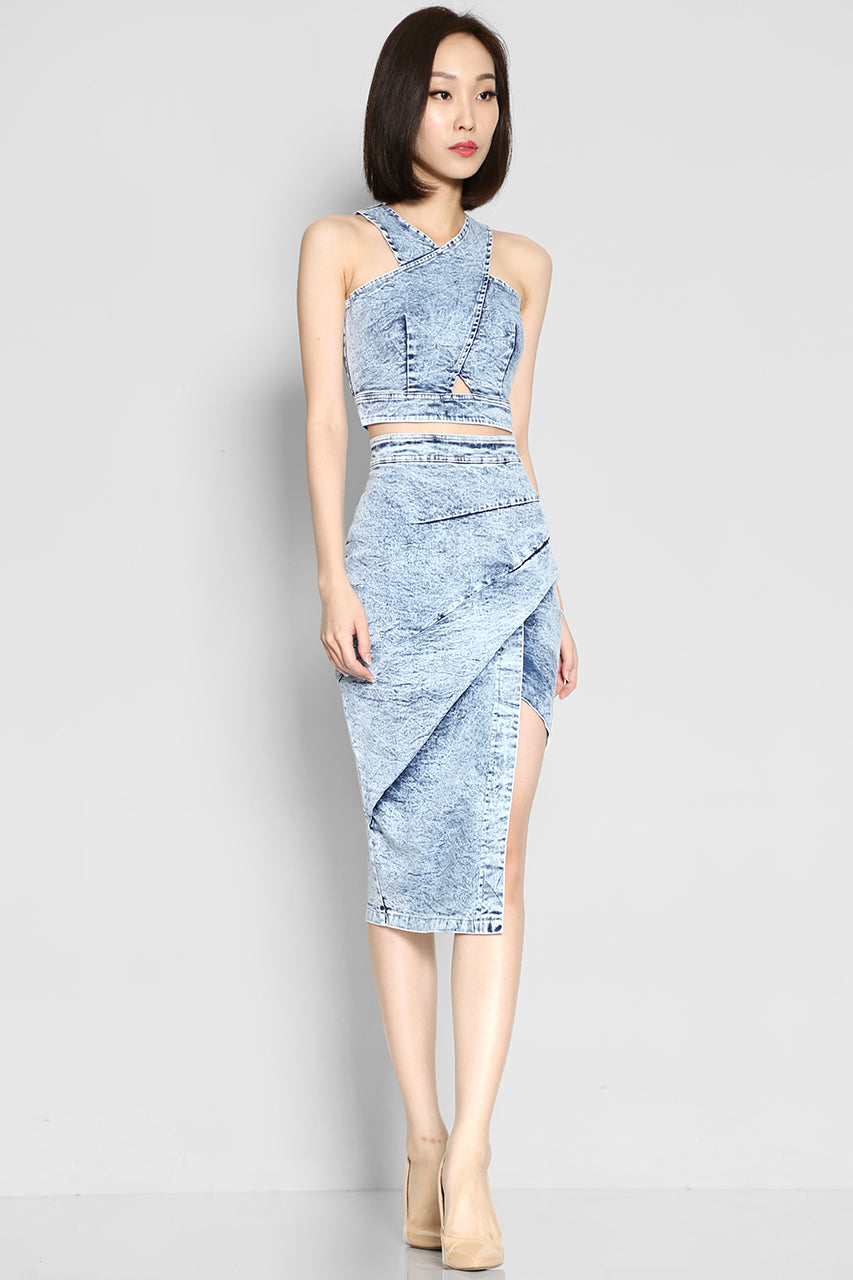 Ophelia Abraham Denim Crop Top