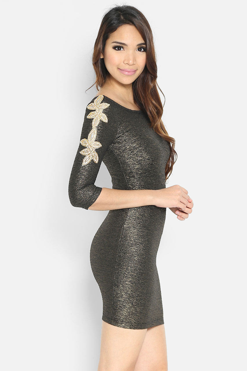 (SALE) Ambrosia Gold Dress