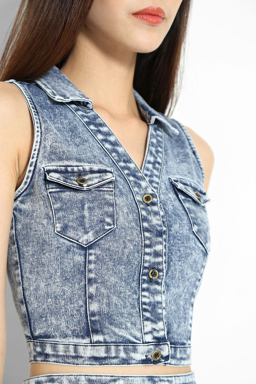 Griffith Denim Top