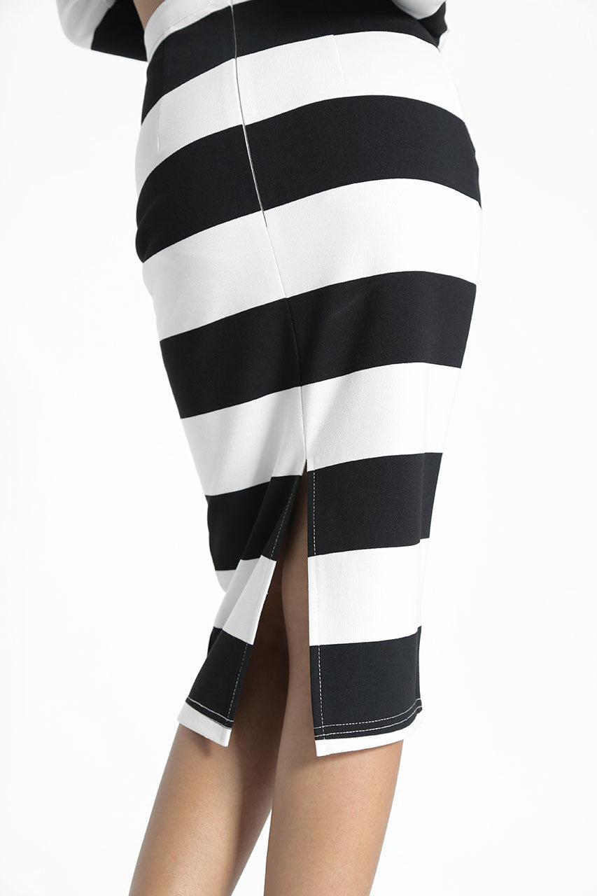 (SALE) Lavinia Stripes Skirt