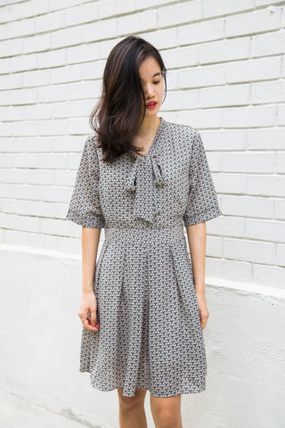 Ann Geometrical Print Dress