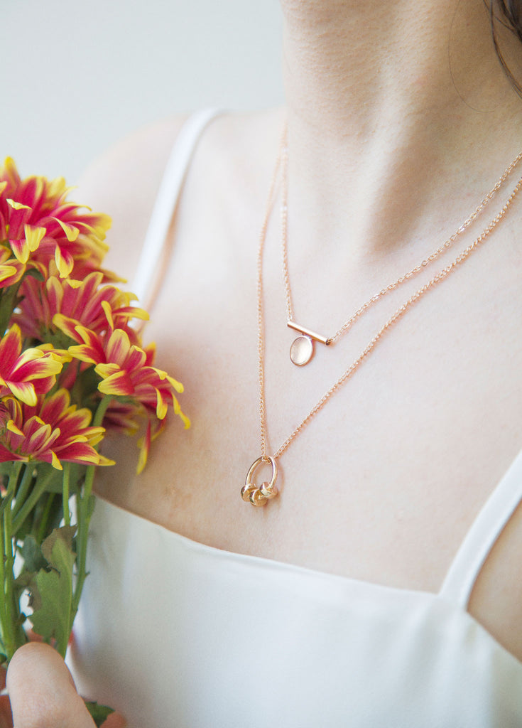 Koko necklace. Introducing a sweet, beautiful, laid-back and fancy necklace all at once. Looks beautiful on its own or worn as a layering piece. It can be adjusted to your preferred length.