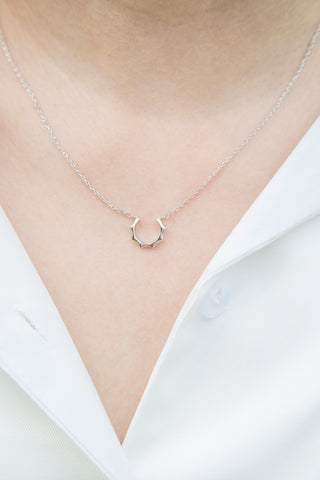 Sun Arc Necklace (.925)