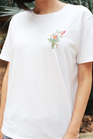 Embroidery Bouquet Tee