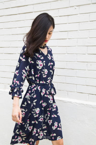 Perry Navy Floral Dress