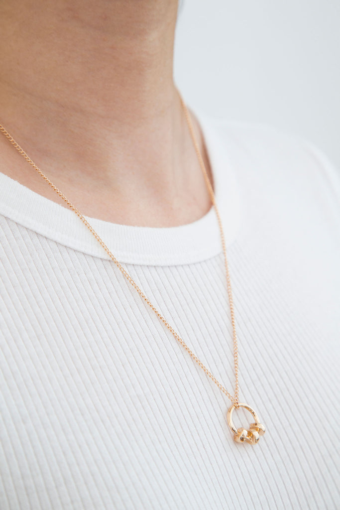 Koko Necklace, modern minimal jewelry. Introducing a sweet, beautiful, laid-back and fancy necklace all at once. Looks beautiful on its own or worn as a layering piece. It can be adjusted to your preferred length.