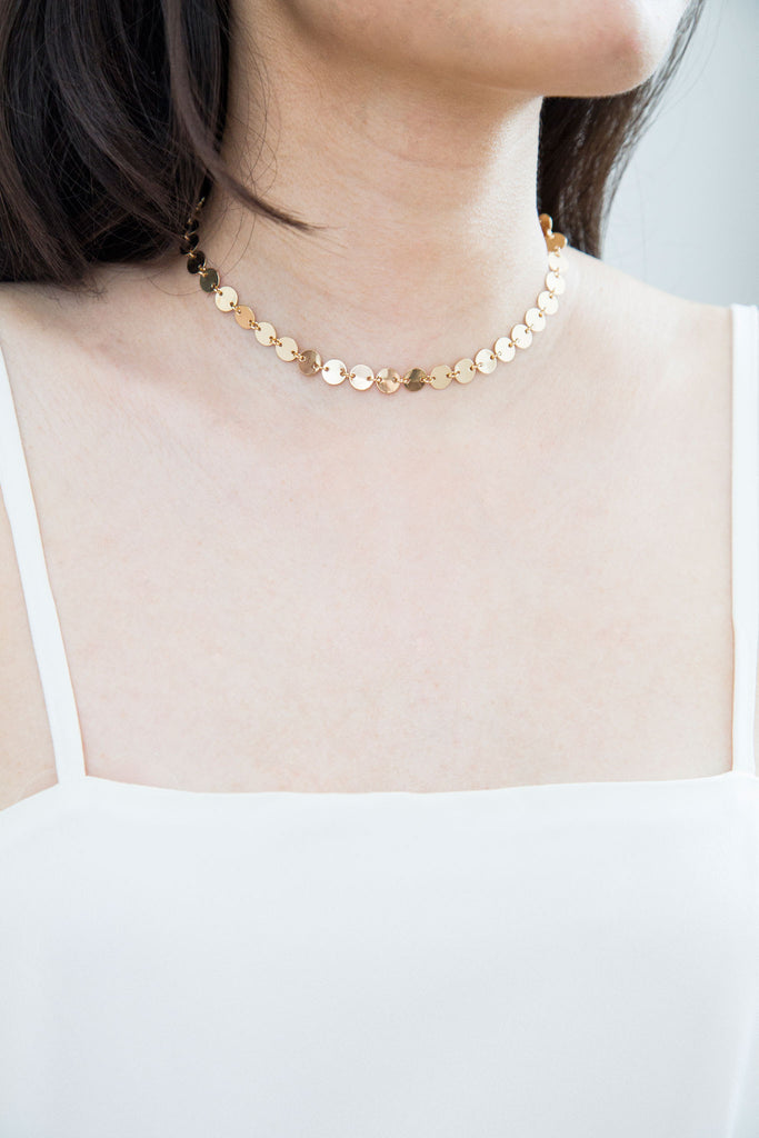 Mel Disc Choker Necklace