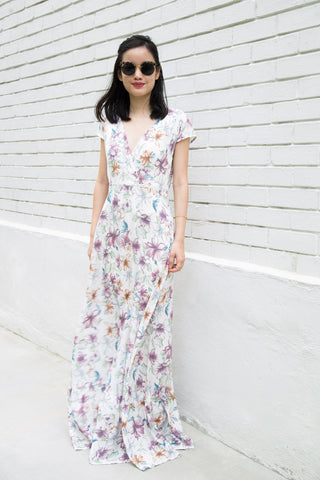 Ginger Floral Maxi Wrap Dress