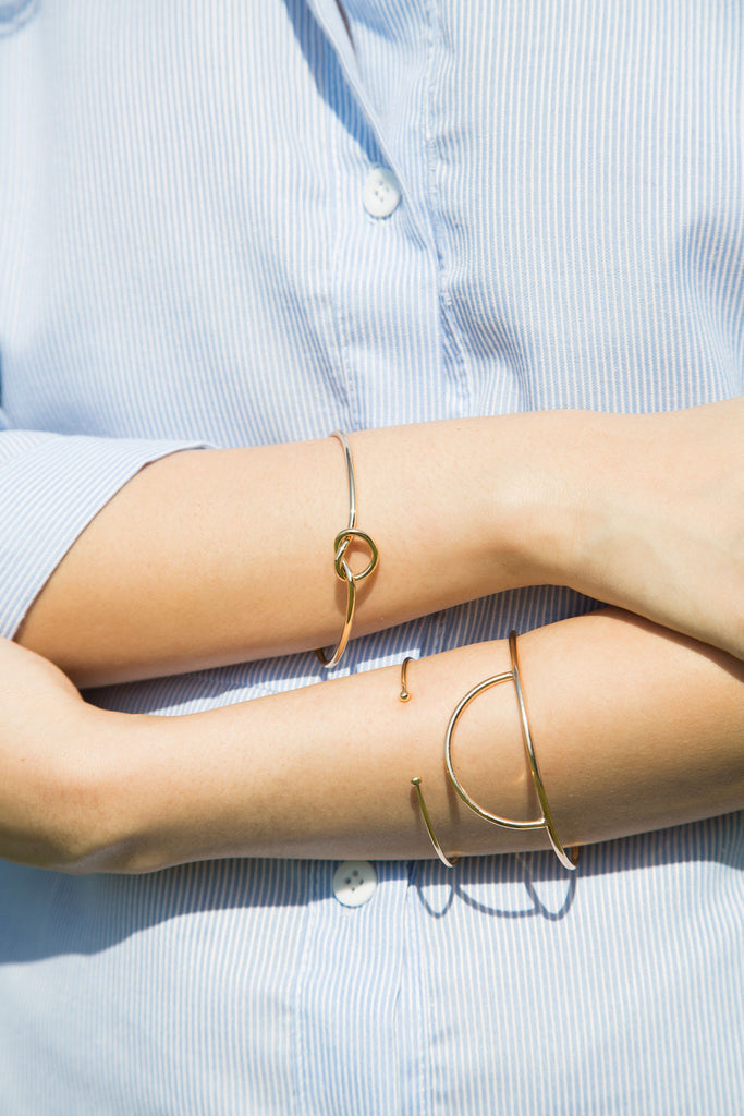 Celine. Knot Cuff. An intricately knotted bracelet, a symbol of interconnectedness, friendship and love. A priceless gift to express your feelings.
