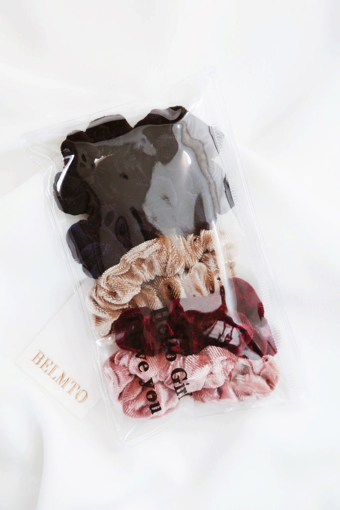 Pi Velvet Scrunchies (set of 5)