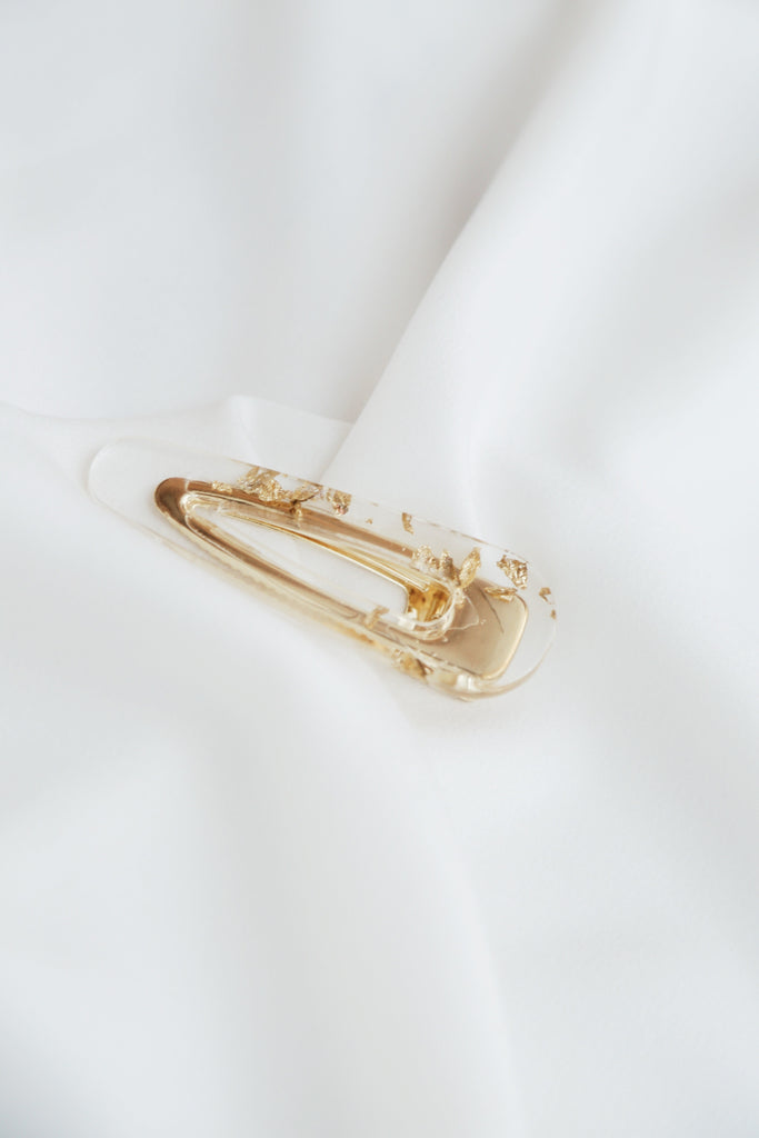 Miu Barrette (Clear Goldie)