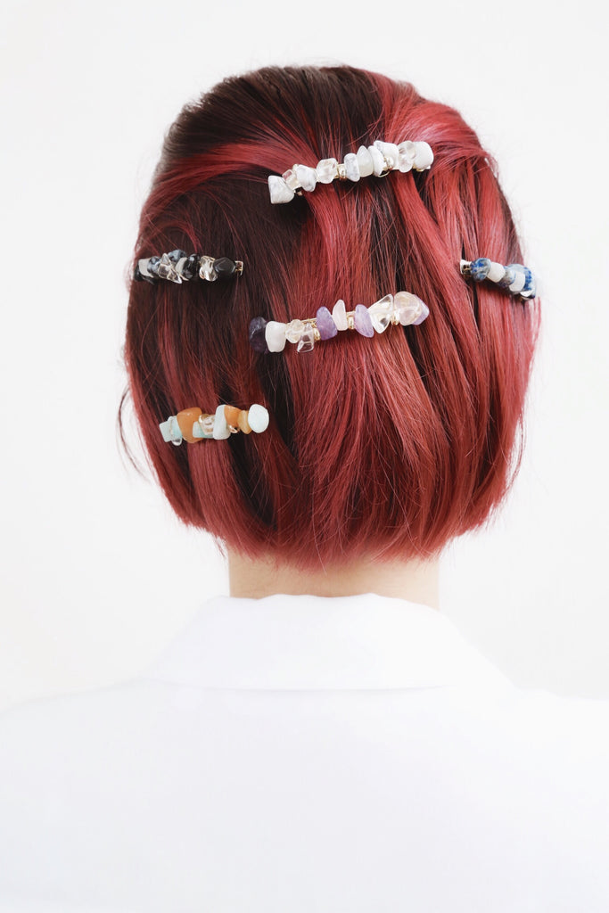 Candy Barrette (Navy Combo)