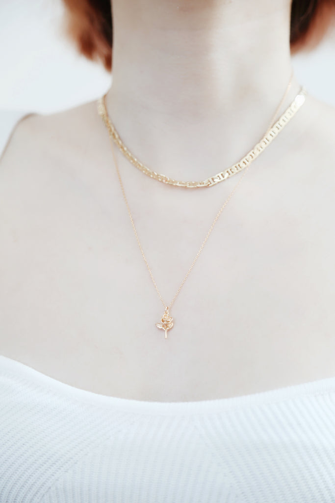 Petite Rose Necklace
